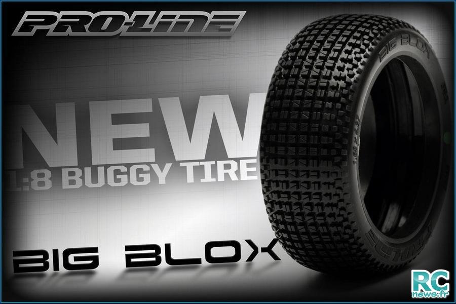 pneu big blox pro line pour buggy 1 8 rcmag le web magazine du modelisme rc. Black Bedroom Furniture Sets. Home Design Ideas